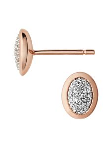 Links of London Diamond essentials rose vermeil earrings