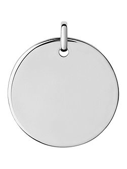 Narrative Large Round Disc Pendant