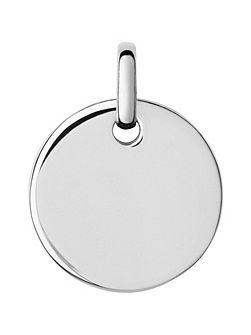 Narrative Small Round Disc Pendant