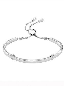 Narrative silver bracelet