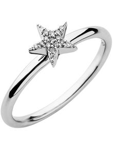 Diamond Essentials White Pave Star Ring