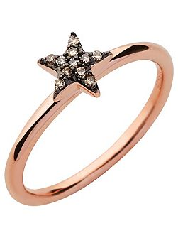 Diamond Essentials Rose Gold Star Ring