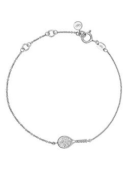 Wimbledon diamond racket bracelet