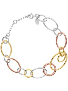 Links of London Aurora mixed metal link bracelet