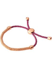 Links of London Effervescence xs raspberry cord bracelet