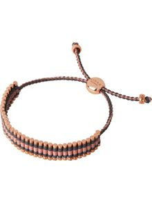 Links of London Grey & Copper Friendship Bracelet