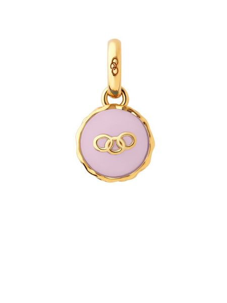 Links of London Gold vermeil strawberry macaron charm