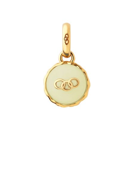 Links of London Gold vermeil lemon macaron charm