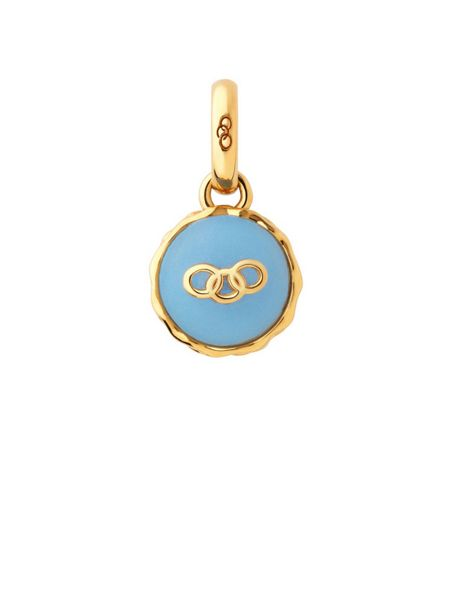 Links of London Gold vermeil blueberry macaron charm