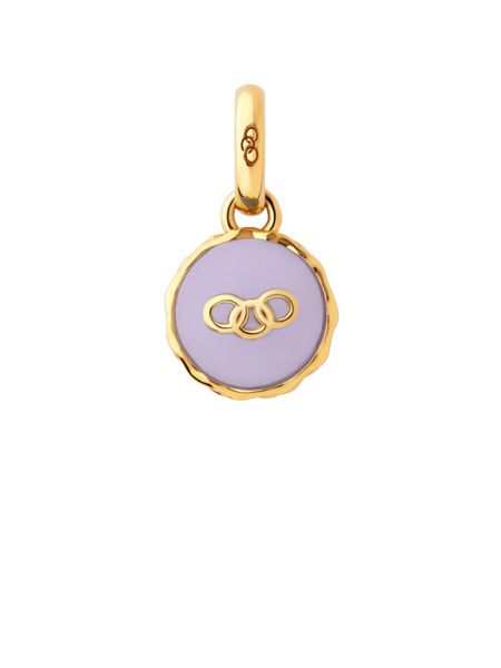 Links of London Gold vermeil lavender macaron charm