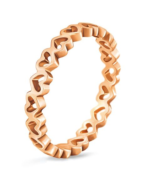 Folli Follie Love & fortune rose gold ring