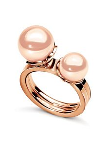 Folli Follie Grace rose gold pearl ring