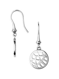 Timeless silver small arch drop earrings