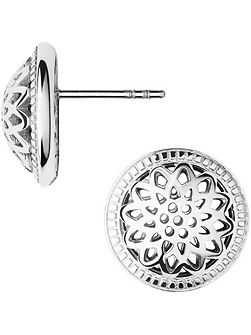Timeless silver domed stud earrings