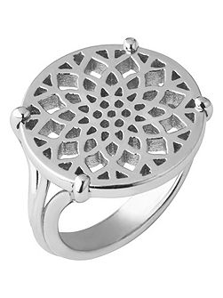 Timeless sterling silver coin ring- size N