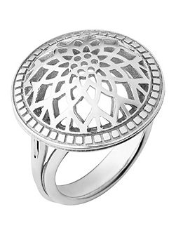 Timeless sterling silver domed ring- Size P