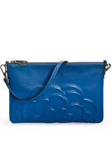 Santorini flower large clutch bag