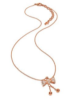 Bow rose gold necklace