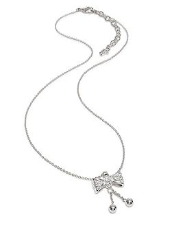 Bow silver necklace