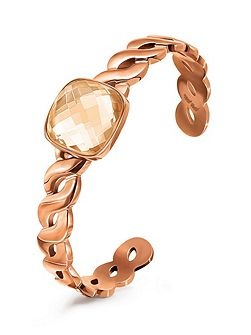 Apeiron rose gold crystal cuff