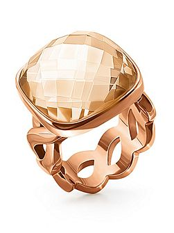 Apeiron rose gold crystal ring