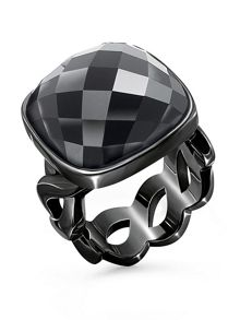 Folli Follie Apeiron black crystal ring