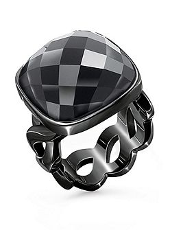 Apeiron black crystal ring