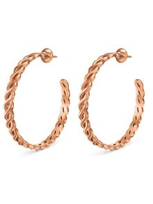Folli Follie Apeiron rose gold hoop earrings