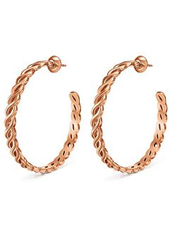 Apeiron rose gold hoop earrings