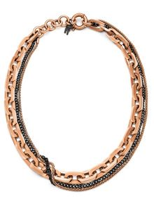 Folli Follie Timeless chain rosegold necklace