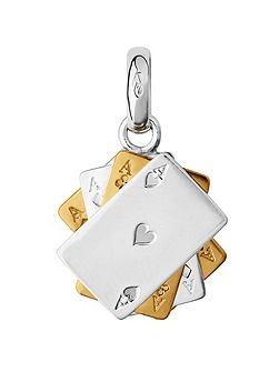 Yellow Gold Vermeil Poker Cards Charm