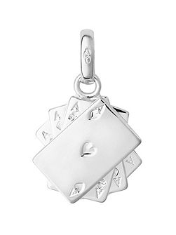 Sterling Silver Poker Cards Charm