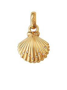Links of London 18kt yellow gold, diamond & pearl clam shell char