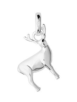Sterling Silver Stag Woodland Charm