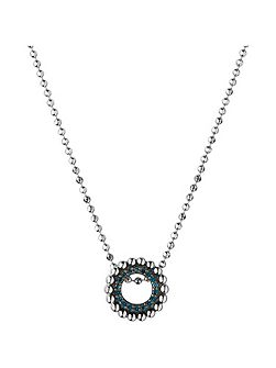 Effervescence blue diamond mini necklace