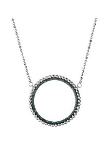Links of London Effervescence blue diamond halo necklace