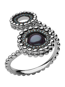 Effervescence pearl double ring