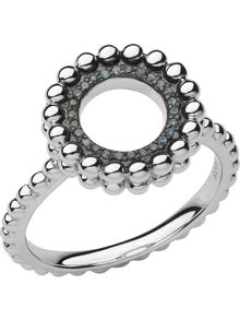 Links of London Effervescence silver & diamond ring