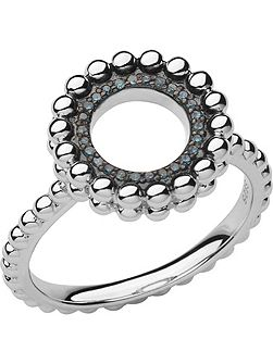 Effervescence silver & diamond ring
