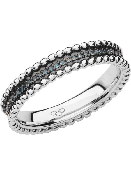 Links of London Effervescence blue diamond band ring