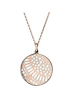 Timeless rose gold large arch necklace
