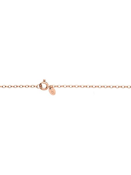 Links of London Timeless rose gold large arch necklace