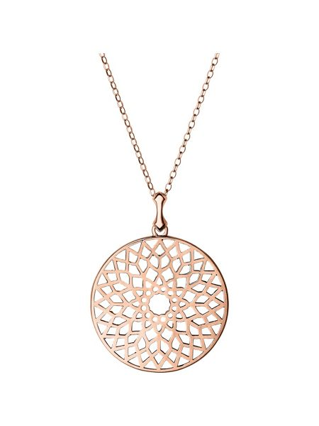 Links of London Timeless rose gold large necklace