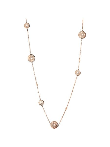 Links of London Timeless 18ct rose gold vermeil multi station nec