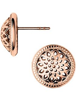 Timeless rose gold domed stud earrings