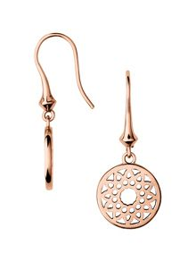 Links of London Timeless rose gold small drop earrings
