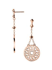 Links of London Timeless rose gold large earrings