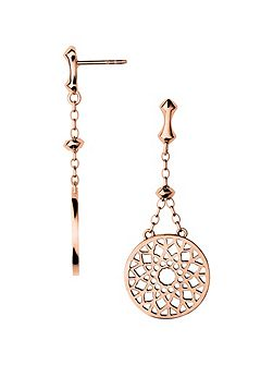 Timeless rose gold large earrings