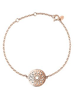 Timeless 18ct rose gold vermeil bracelet