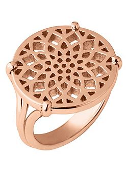 Timeless rose gold coin ring
